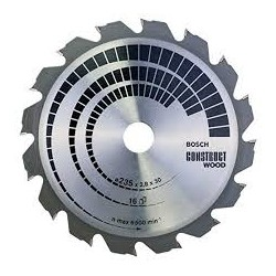 Cirkelzaagbl. Construct wood 235x30/25x2.8 16T