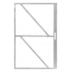 Deurframe ijzer verzinkt met slotkast 100x155 cm
