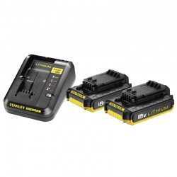 FATMAX® 18V STARTKIT: 2 LITHIUM ION ACCU'S 2.0AH + 2A LADER