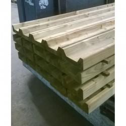 Gewolmaniseerde baddinggoot 58x158 mm